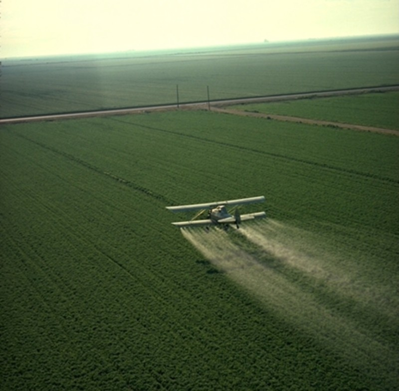 Pesticide spraying plane